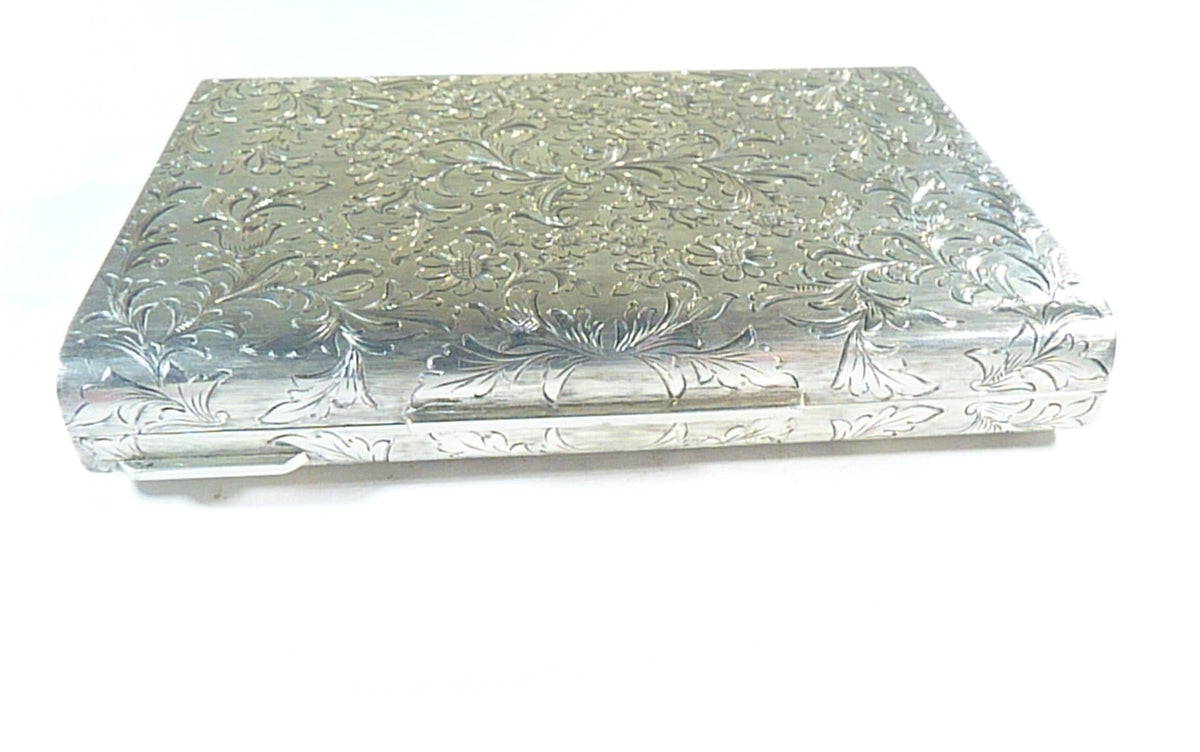 luxury silver clutch bag