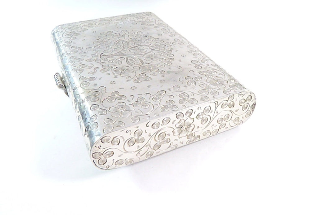 luxury silver clutch bag solid silver
