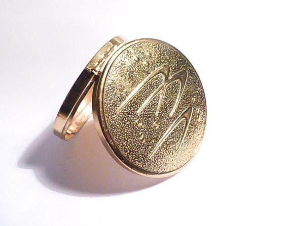 Vintage Merle Norman compact mirror retro powder compacts bridesmaids gifts - The Vintage Compact Shop