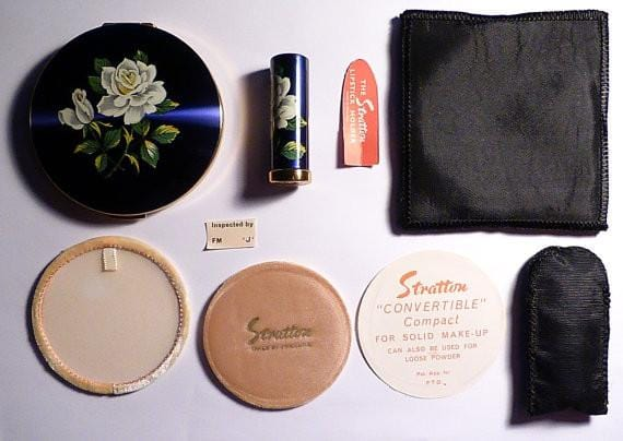 Unused compacts vintage Stratton set