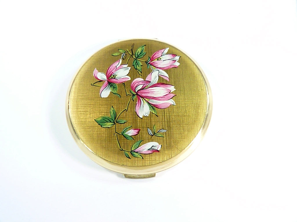 pink and WHITE Stratton compact mirror