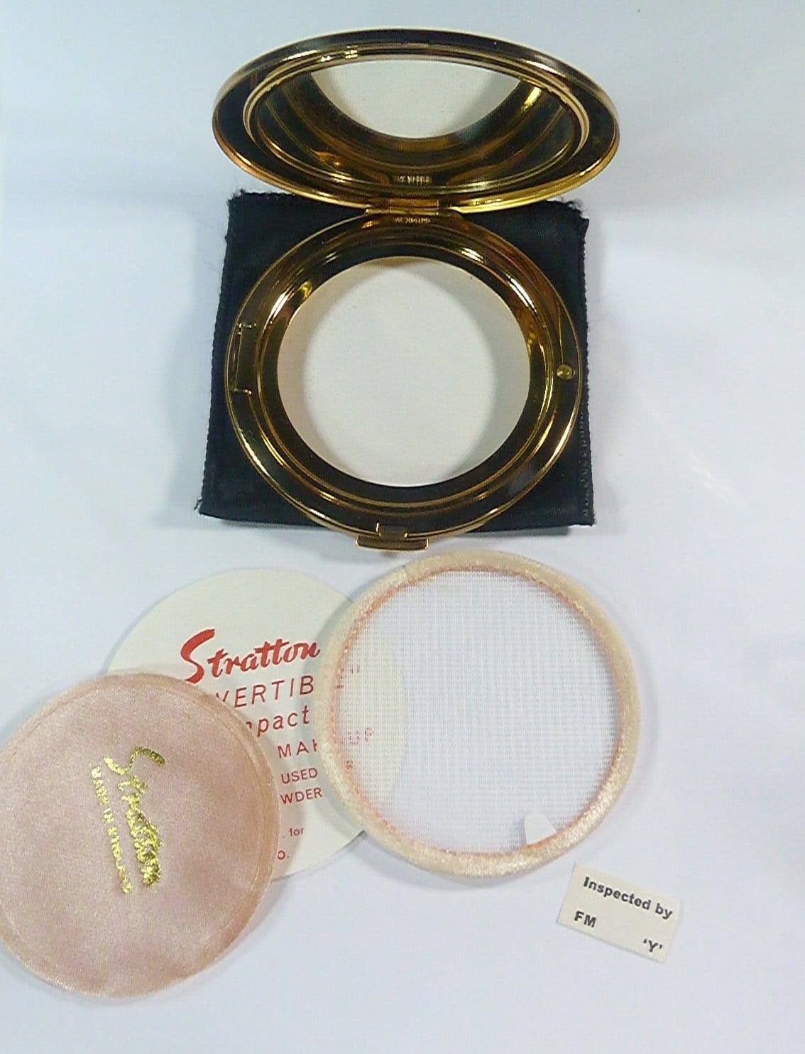 powder compact for loose face powder unused
