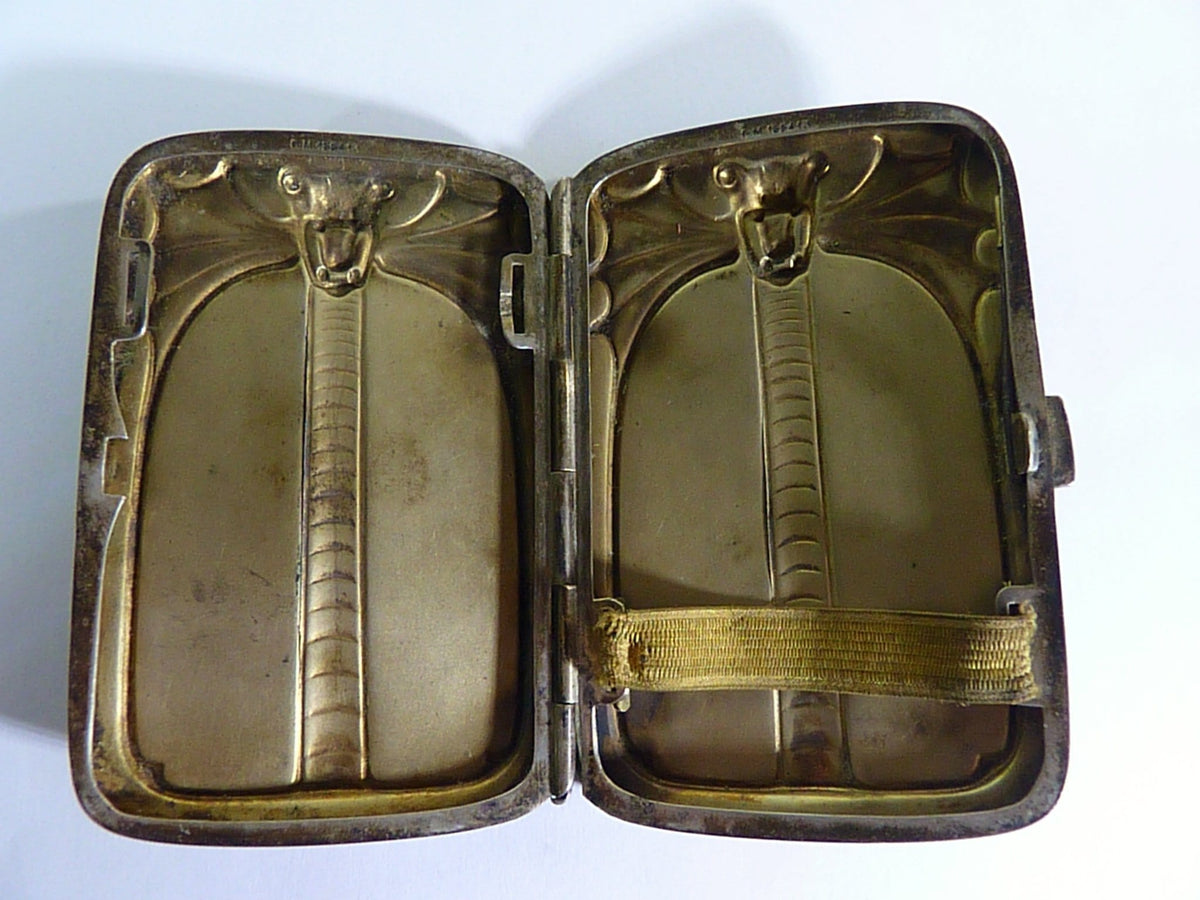Dragon cigarette case 1800s authentic film props