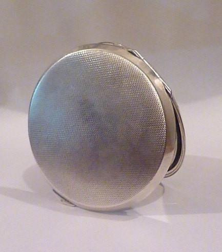 Rare sterling silver tap flap compact ADIE BROS LTD silver English assayed silver gifts for her