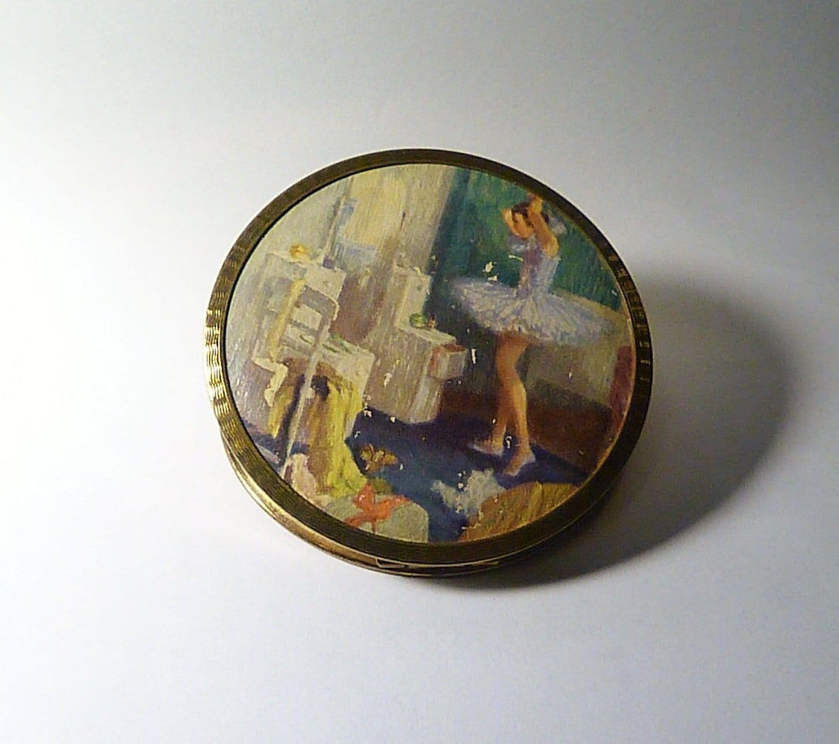 rare vintage ballerina powder compacts