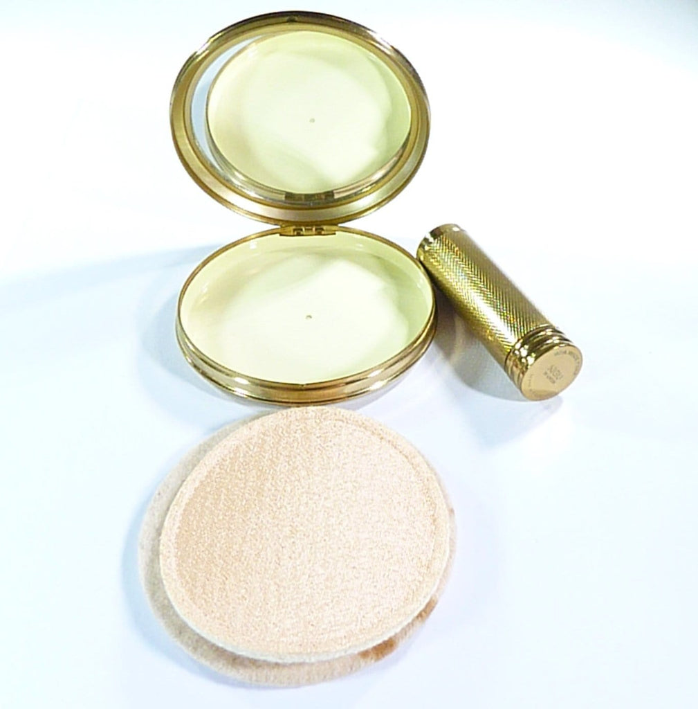 refillable compact case with mirror compressed face powder