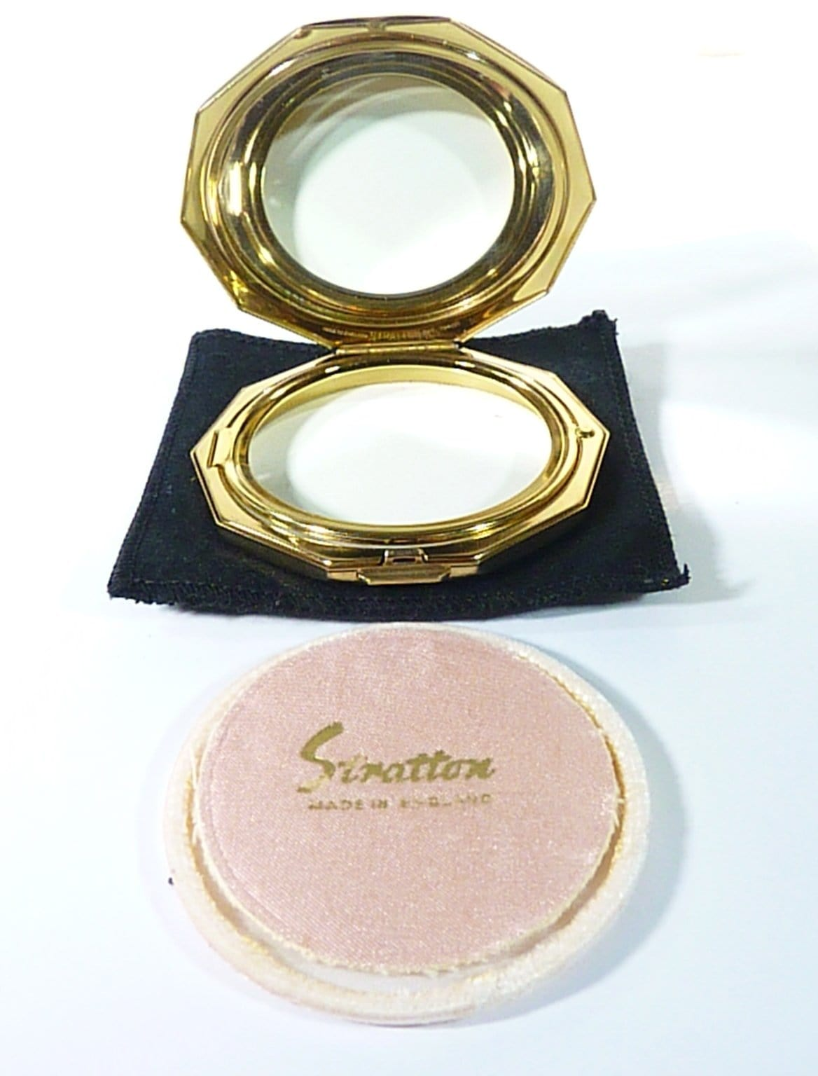 refillable loose powder compacts vintage