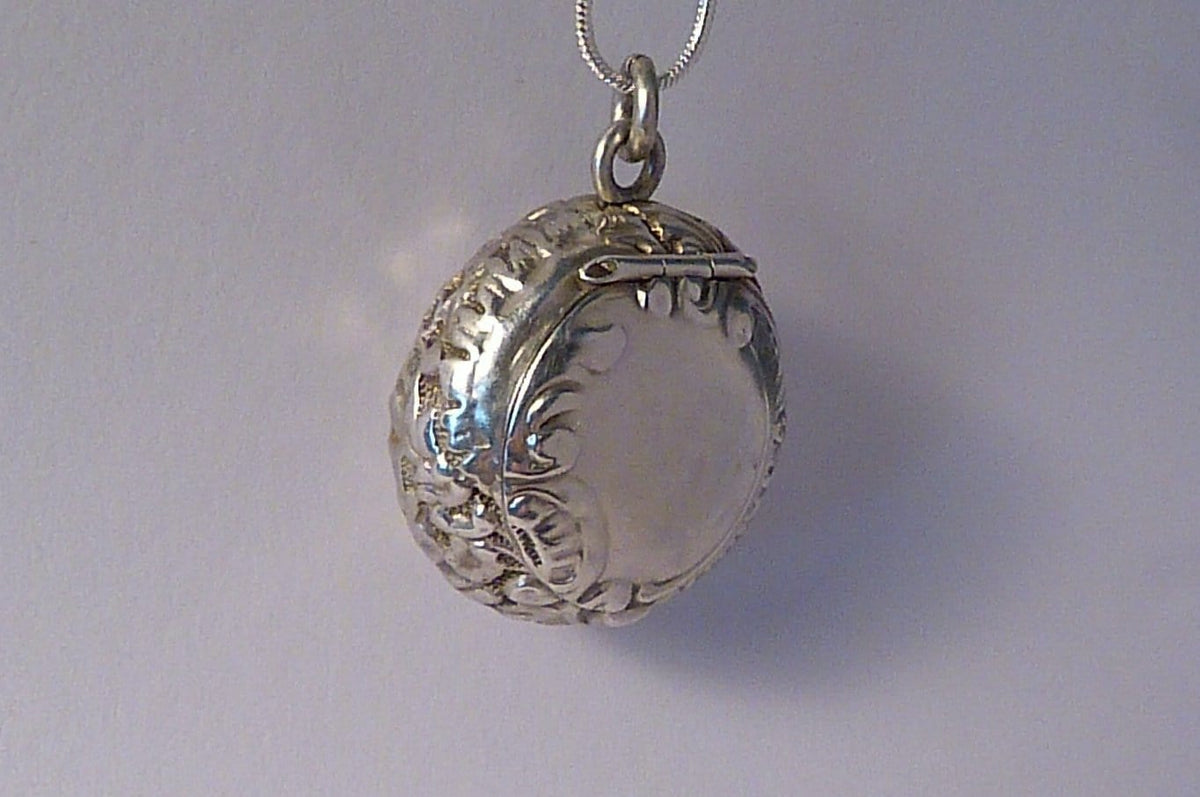 products lockets double vintage sterling antique pendant banana locket silver top