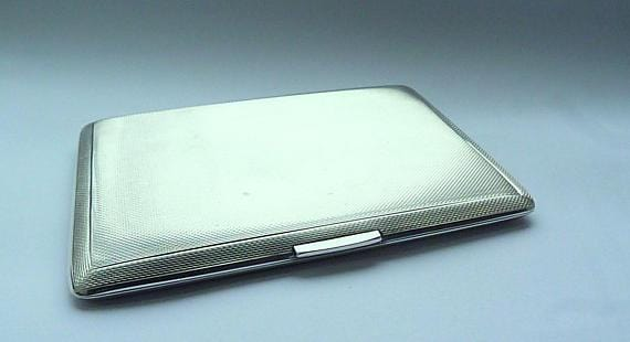solid silver business card cases
