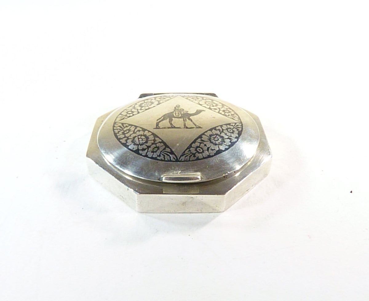 solid silver compact mirror uk seller