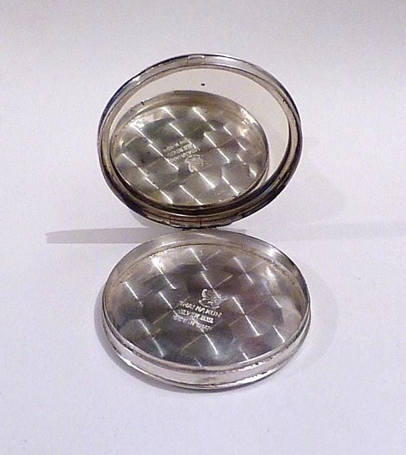 solid silver compact mirrors