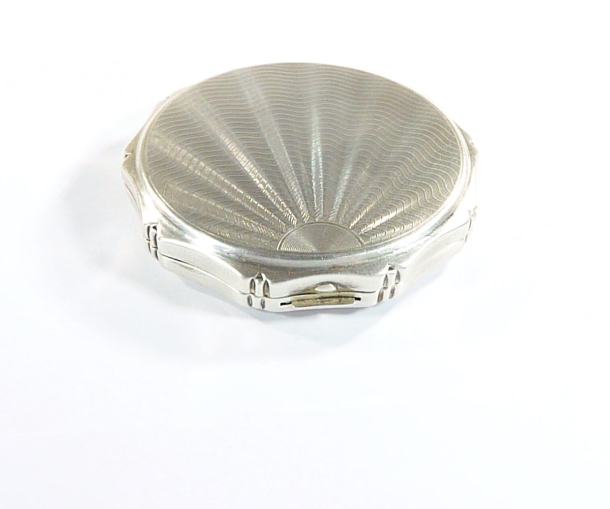solid silver handbag mirrors for Max Factor Creme Puff