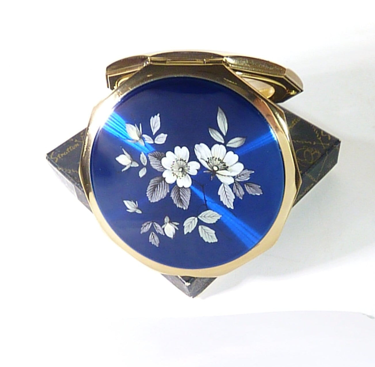 something blue bridal gift Stratton compact mirror