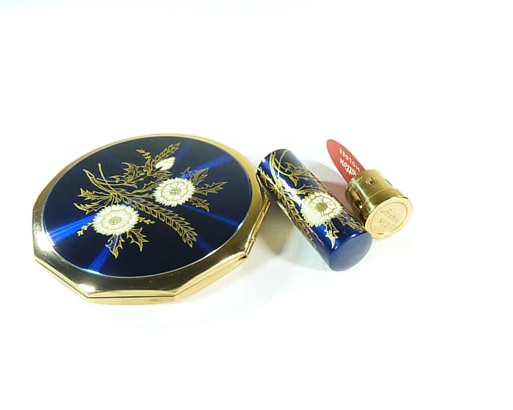 something blue gifts vintage Stratton compact