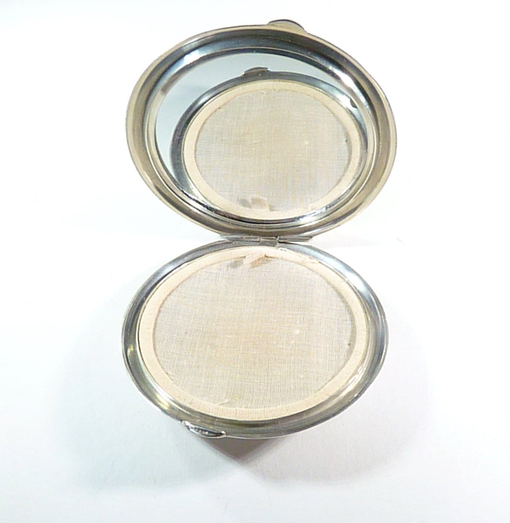 sterling loose powder compact