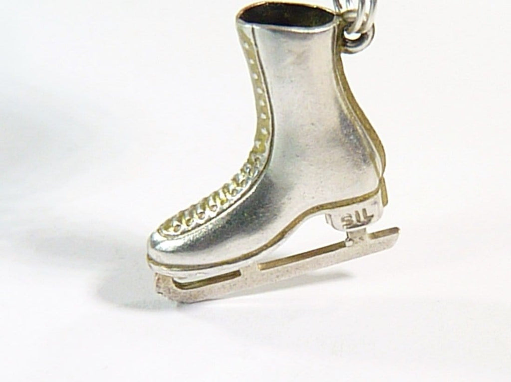 sterling silver skater boot charm