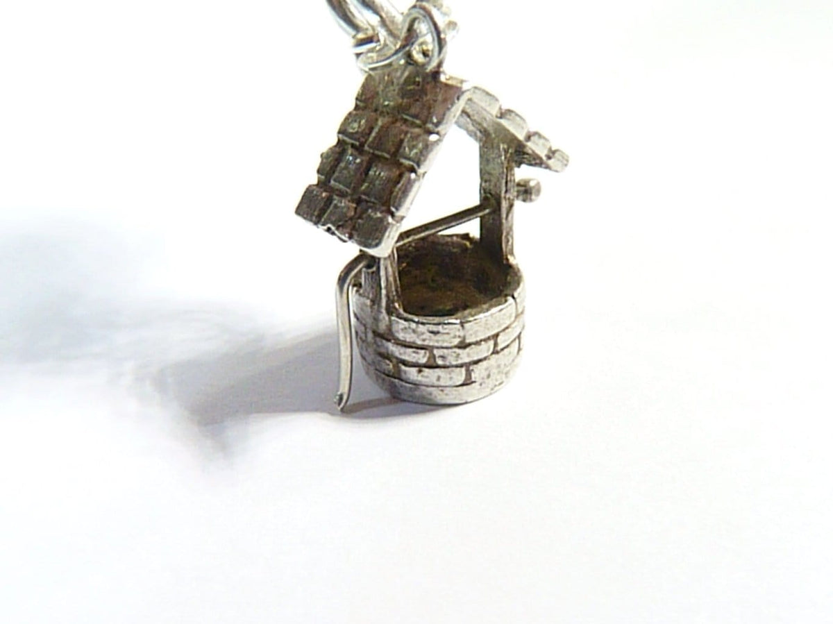 sterling silver wishing well charm
