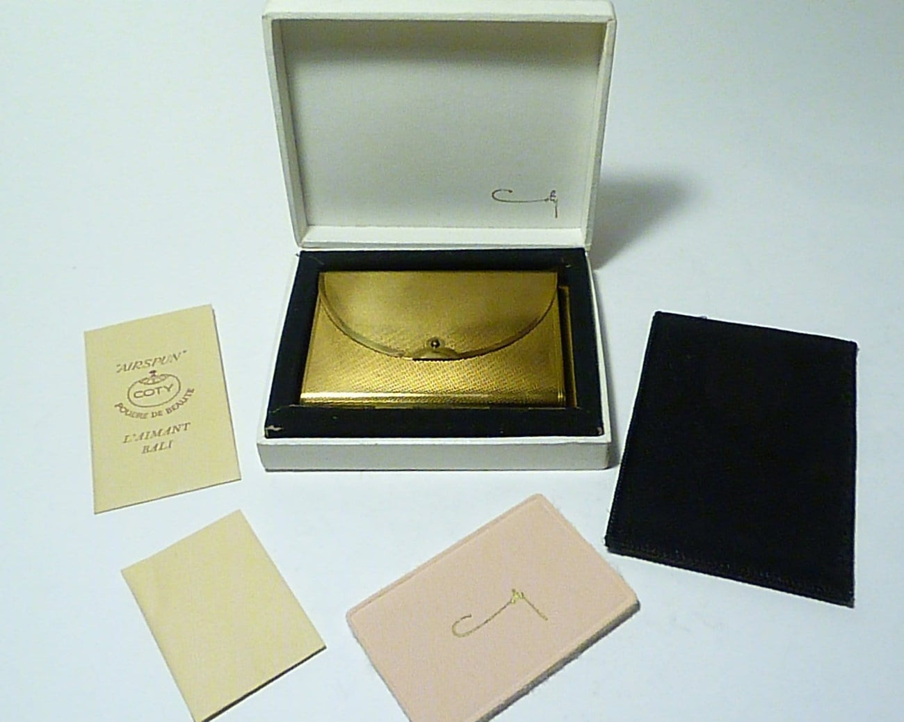 NOS compacts Coty ENVELOPE compact unused powder compacts something old gifts 1940s American novelty compact mirrors