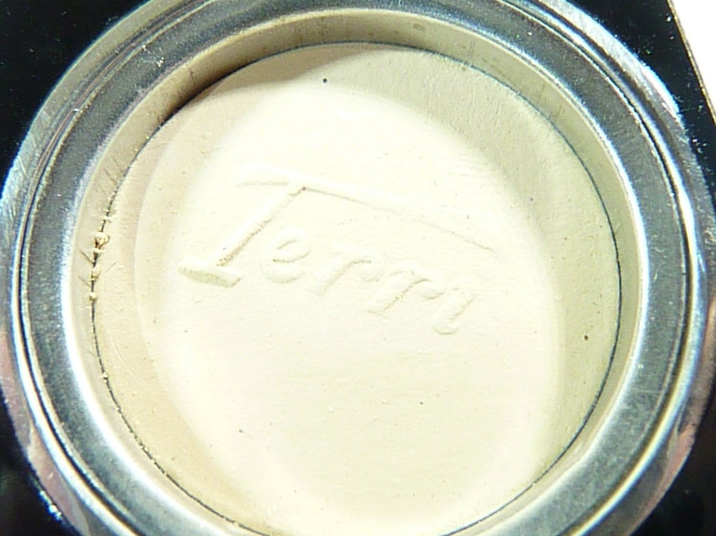 unused antique Terri face powder with Terri stencil
