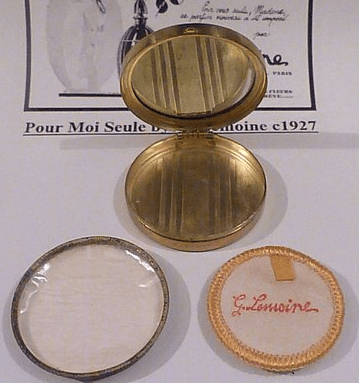 unused antique powder compacts
