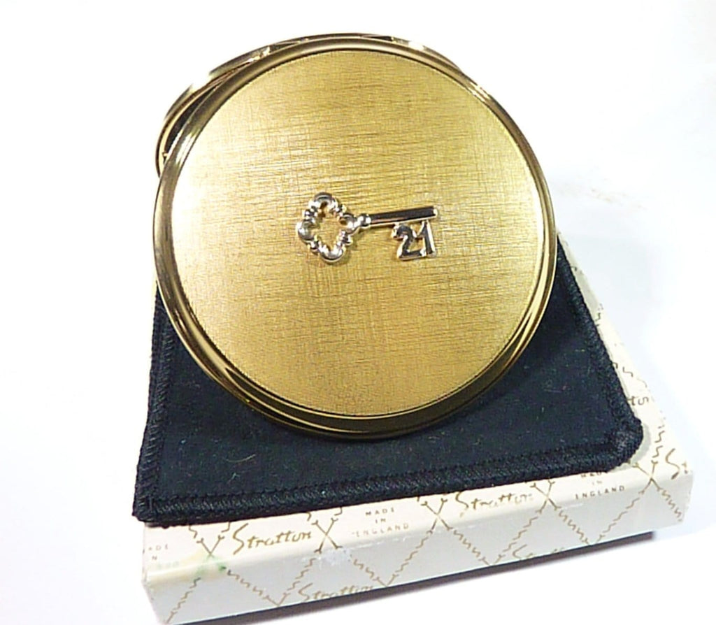 unused boxed 21st birthday Stratton compact
