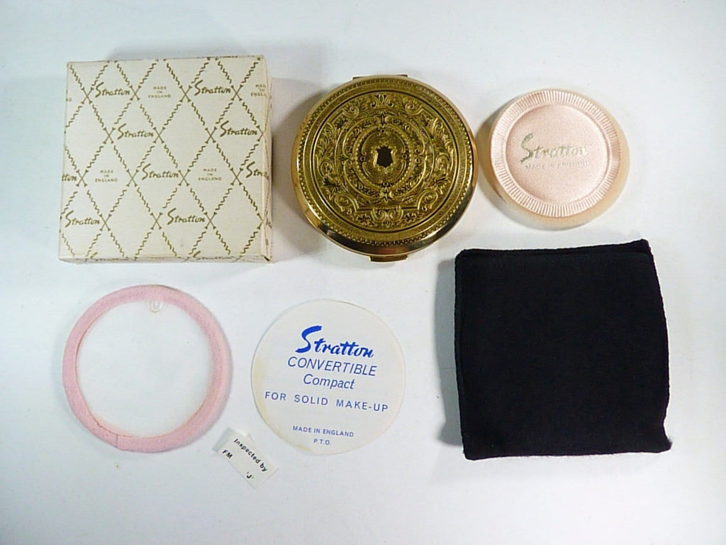 unused boxed vintage Stratton powder compact