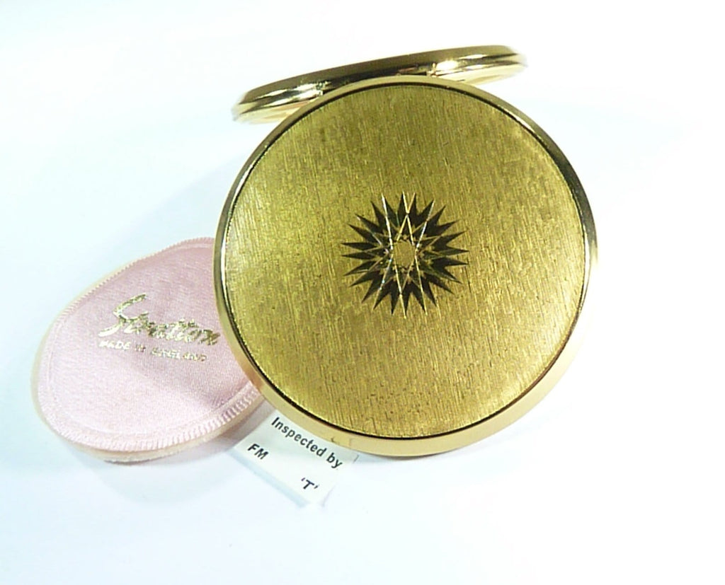 unused vintage Stratton Cachette compressed powder compact