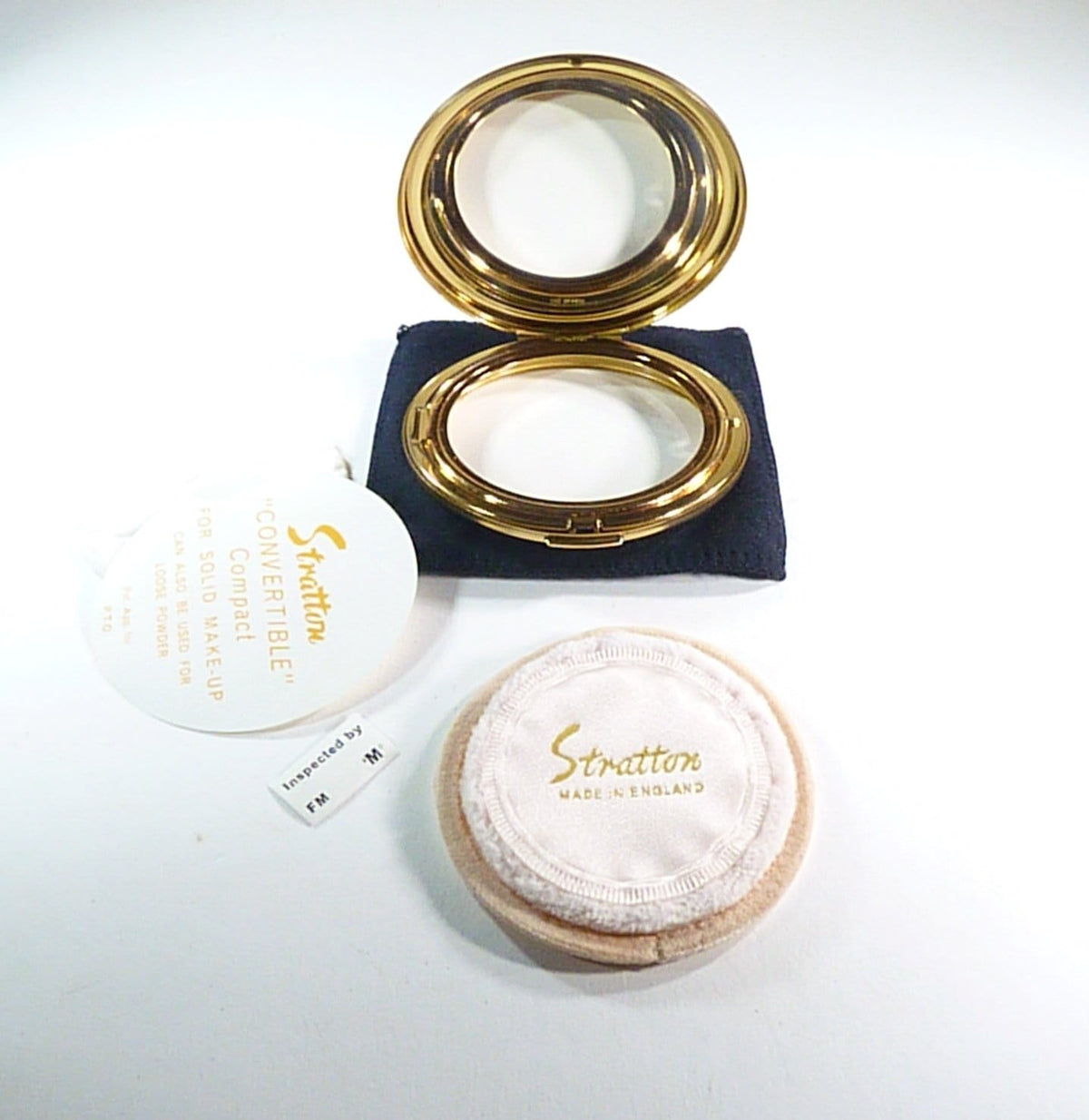 Stratton Compact UK Stockists Refillable Vintage Powder