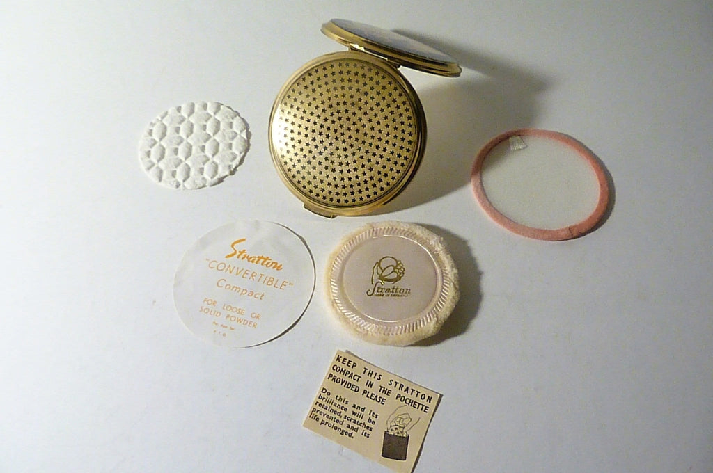 rare unused Stratton ballet powder compact