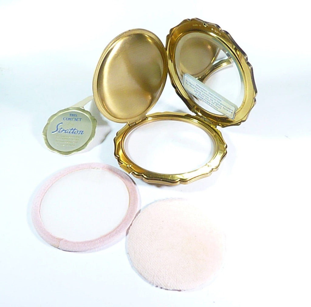 unused vintage loose powder compacts