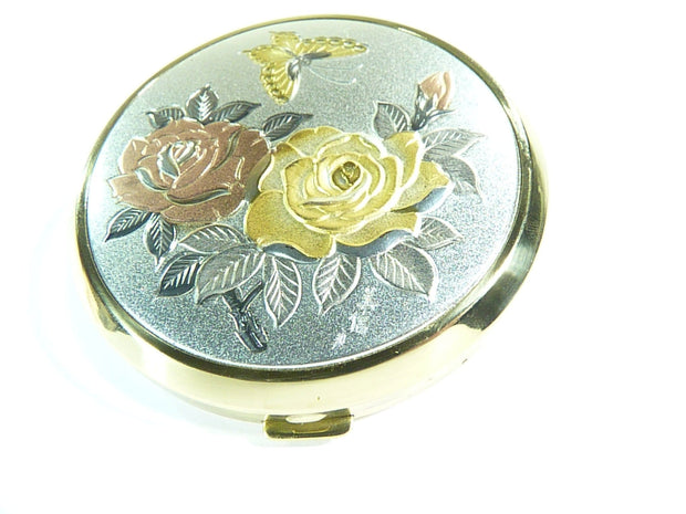 vintage Japanese Chokin refillable compact case with mirror