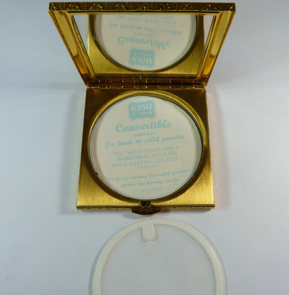vintage compact for loose face powder