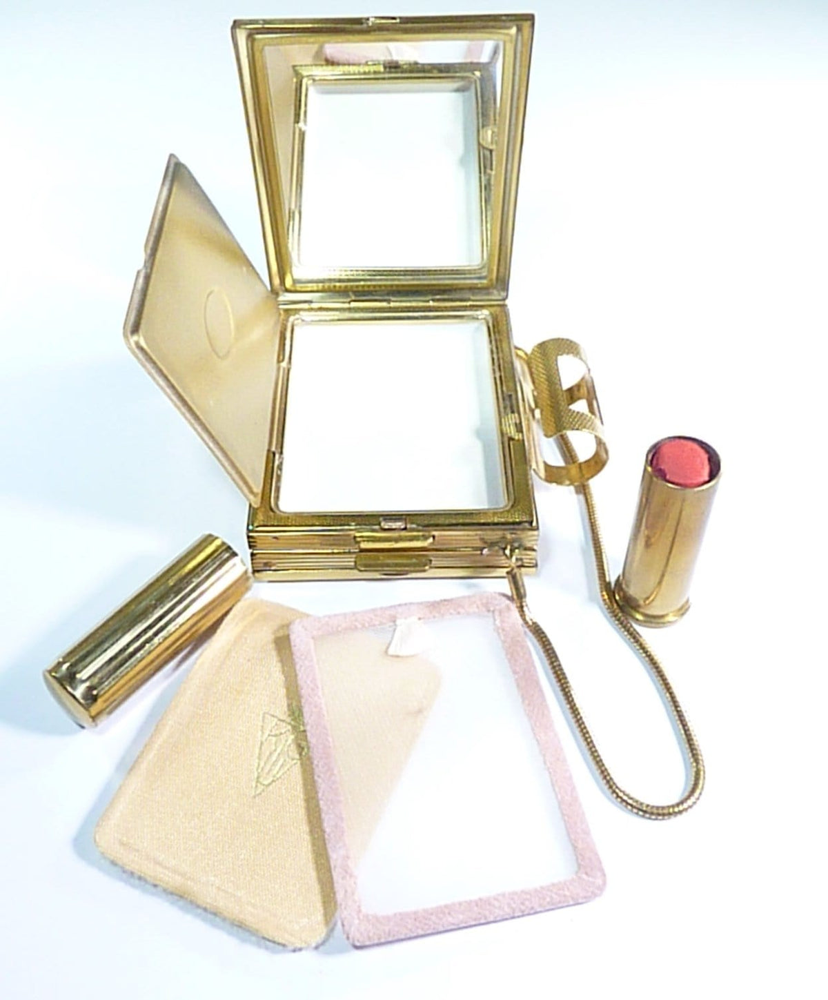 vintage lipstick and vanity set