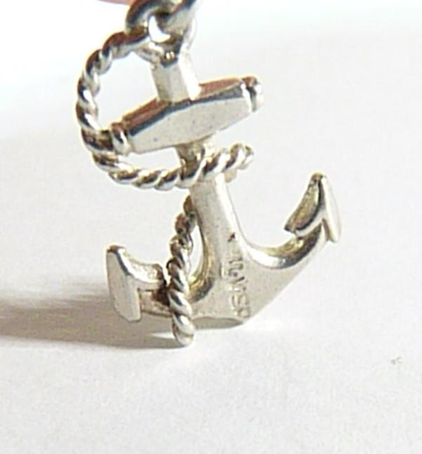 vintage sterling anchor charm