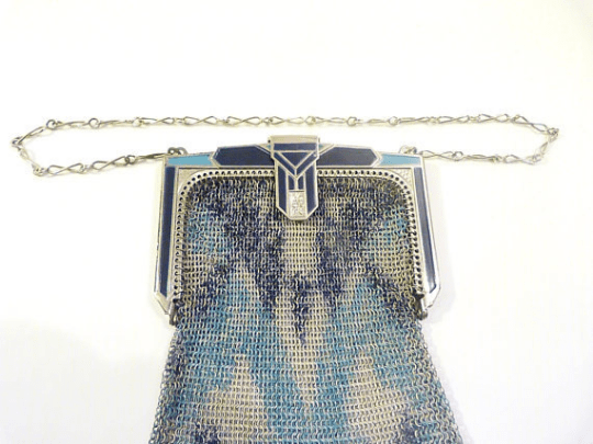 Antique Whiting & Davis mesh purse