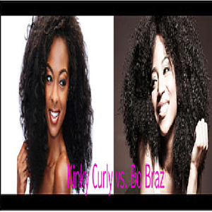 Product Spotlight:  Bohyme Brazilian Wave vs. Kinky Curly Indian Hair