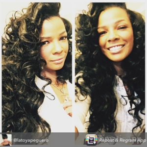 Syleena Johnson Stuns in Sunny's Virgin Indian Hair