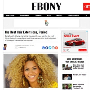Ebony: The Best Hair Extensions Period