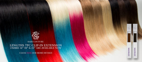 Buy Blonde Ombre Clip In Hair Extensions