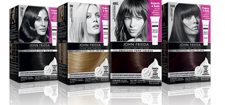 John Frieda dye for Virgin Indian Hair Extensions