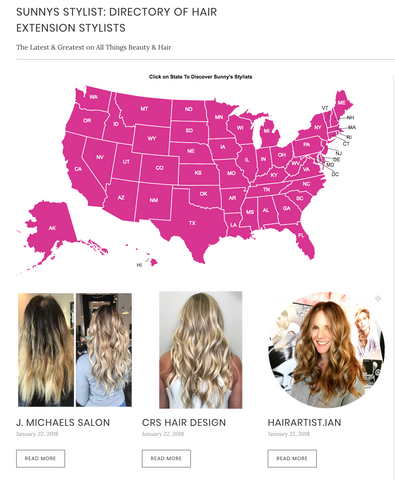 Hair Extension Stylist Directory