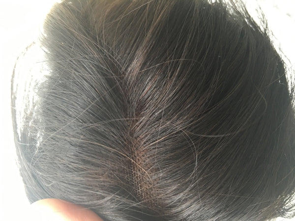 close up of virgin indian hair closure