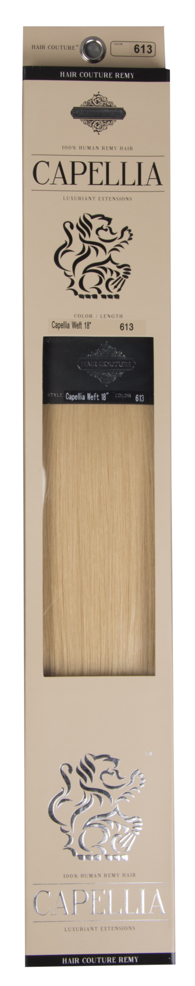 Capellia by Le Prive Wefted Hair Extensions  Packaging