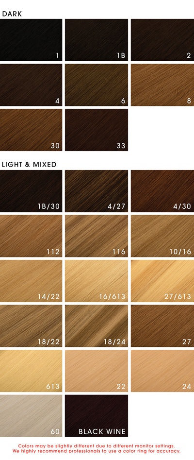Le Prive Hair Extensions Color Chart