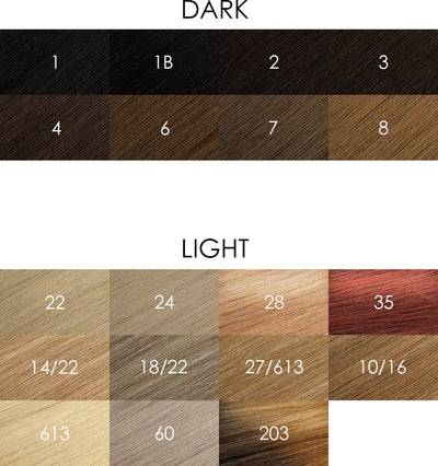 Tape In Hair Extensions Color Chart