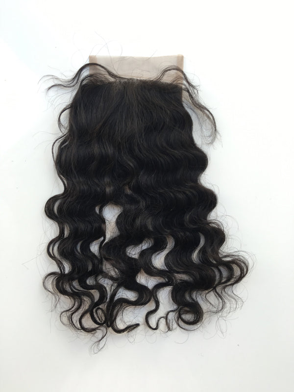 Virgin Indian Hair Closure- Natural Curl
