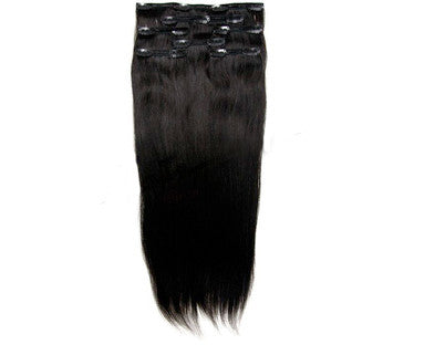 Straight Virgin Indian Hair Clip In Extensions