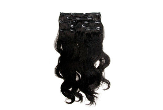 Wavy Virgin Indian Hair Extensions Clip In Hair Extensions