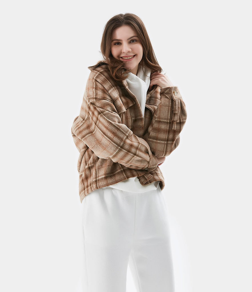 Plaid Check Multi-Pocket Jacket