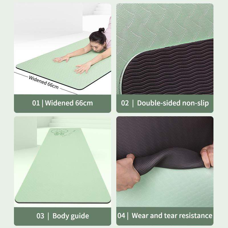 Double-layered Two-color Non-slip Yoga Mat